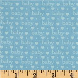Bundle of Joy Baby Love Baby Blue Fabric