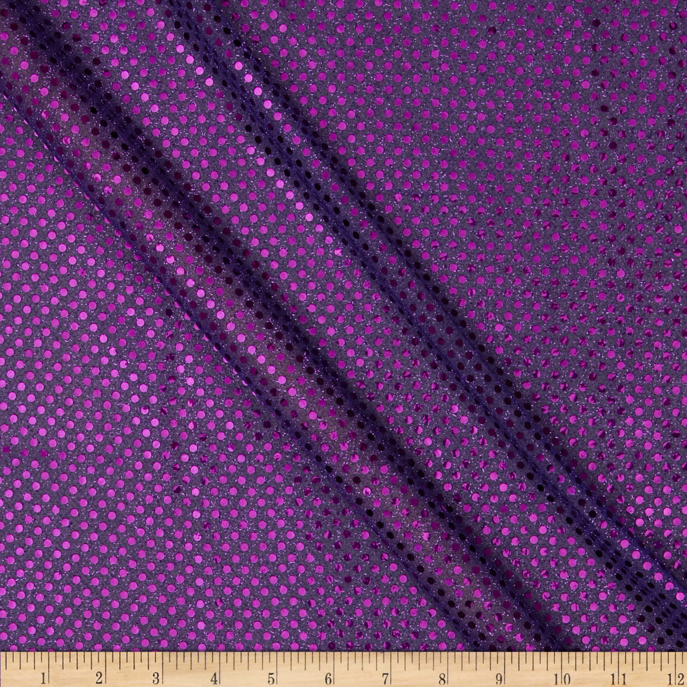 Sequin Dot Mesh Purple Fabric by Richland in USA