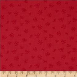 Lecien Petite Fleur Tone on Tone Spring Red