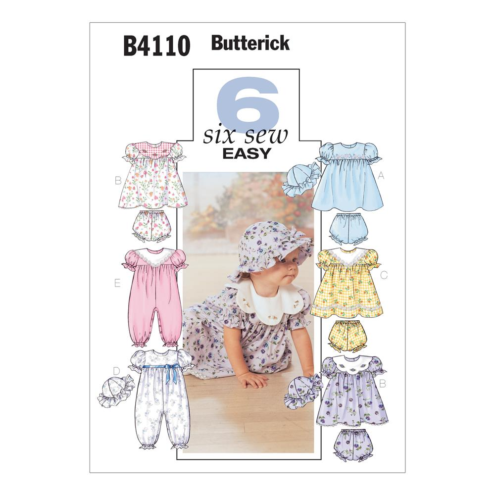 Butterick Infants' Dress, Panties, Jumpsuit and Hat Pattern