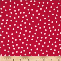 Remix Flannel Dots Hot Pink Fabric