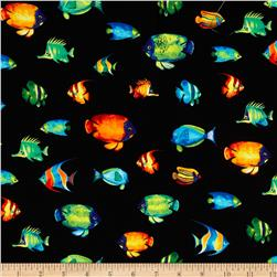 Tropical Reef Small Fish Black