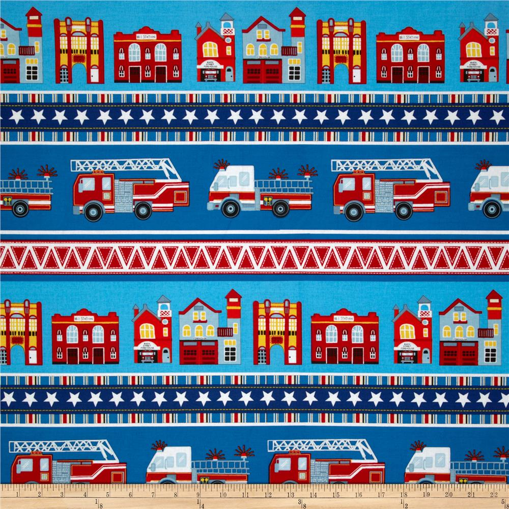 Firehouse Friends Village Stripe Blue