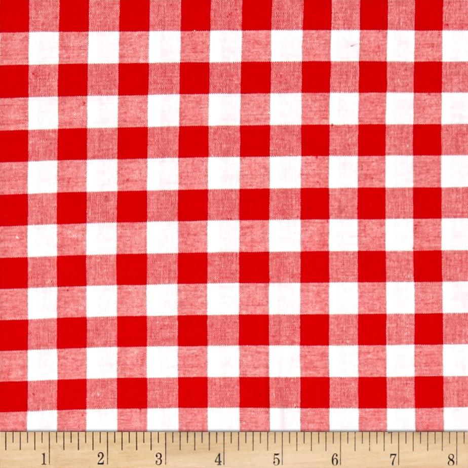 Cotton + Steel Checkers Yarn Dyed Woven 1/2'' Santa Fabric