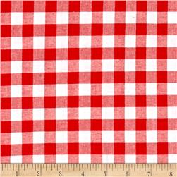 "Cotton + Steel Checkers Yarn Dyed Woven 1/2"" Santa"