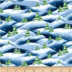 Just Chillin' Christmas Tree Scenic Denim