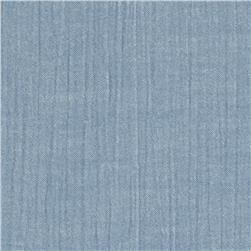 Kaufman Chambray Union Light Crinkle Shirting 2 oz. Indigo