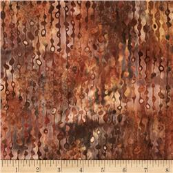 Bali Batiks Handpaint Beaded Curtain Palomino