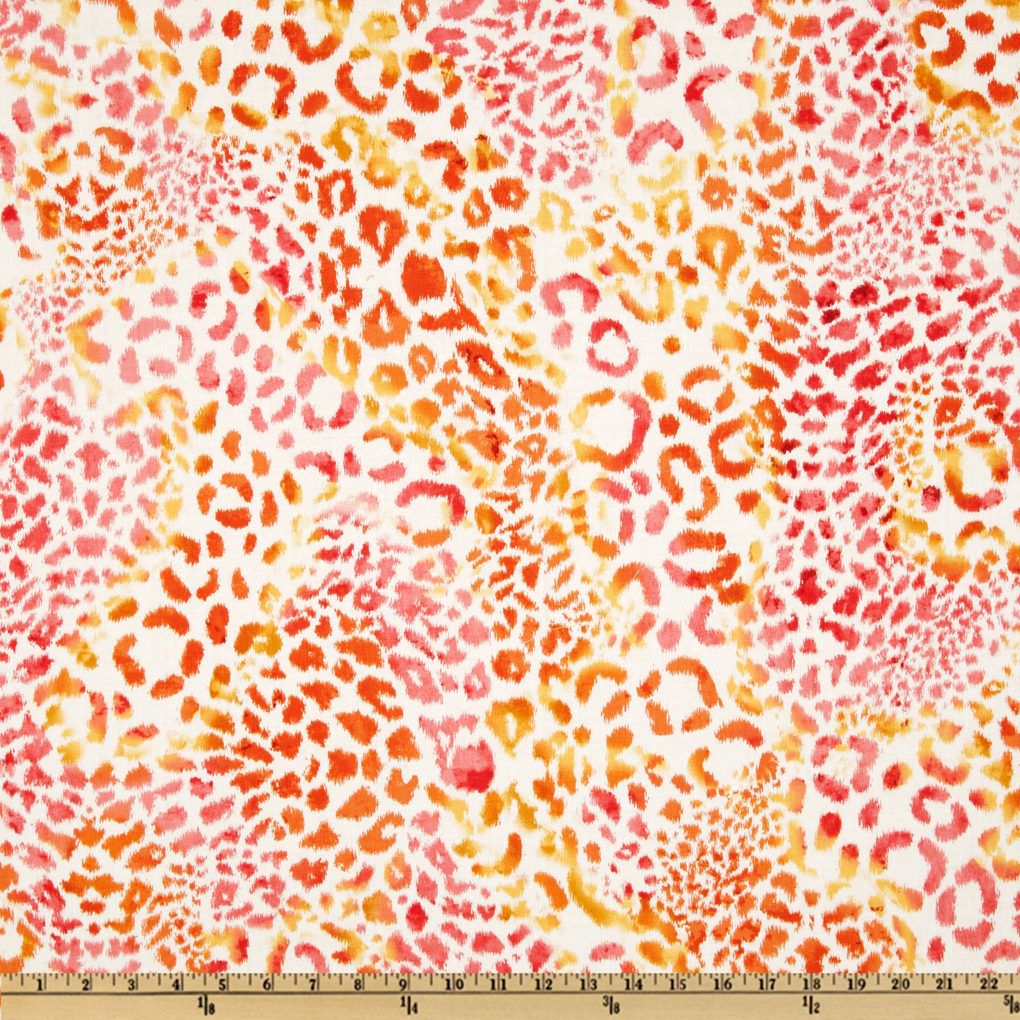 Wild Skins Leopard Sherbet Orange Fabric