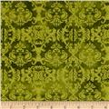 Feather Your Nest Damask Green