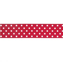 1.5'' Grosgrain Polka Dots Red/White