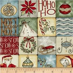 Christmas Whimsy Square Patches Multi