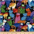 Timeless Treasures Happy Cats Multi