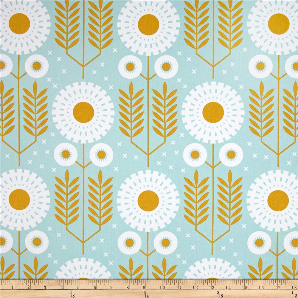 Joel Dewberry Wander Home Decor Sateen Prairie Bloom Maize   Discount  Designer Fabric   Fabric.com