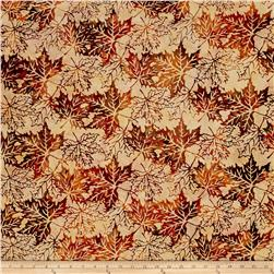 Bali Handpaints Batiks Maple Leaves Desert
