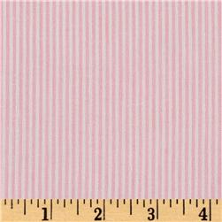 Cotton Blend Yarn Dyed Pinstripe Shirting Pink/White