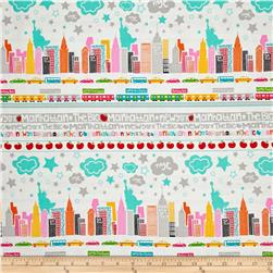 The Big Apple Skyline Multi Fabric