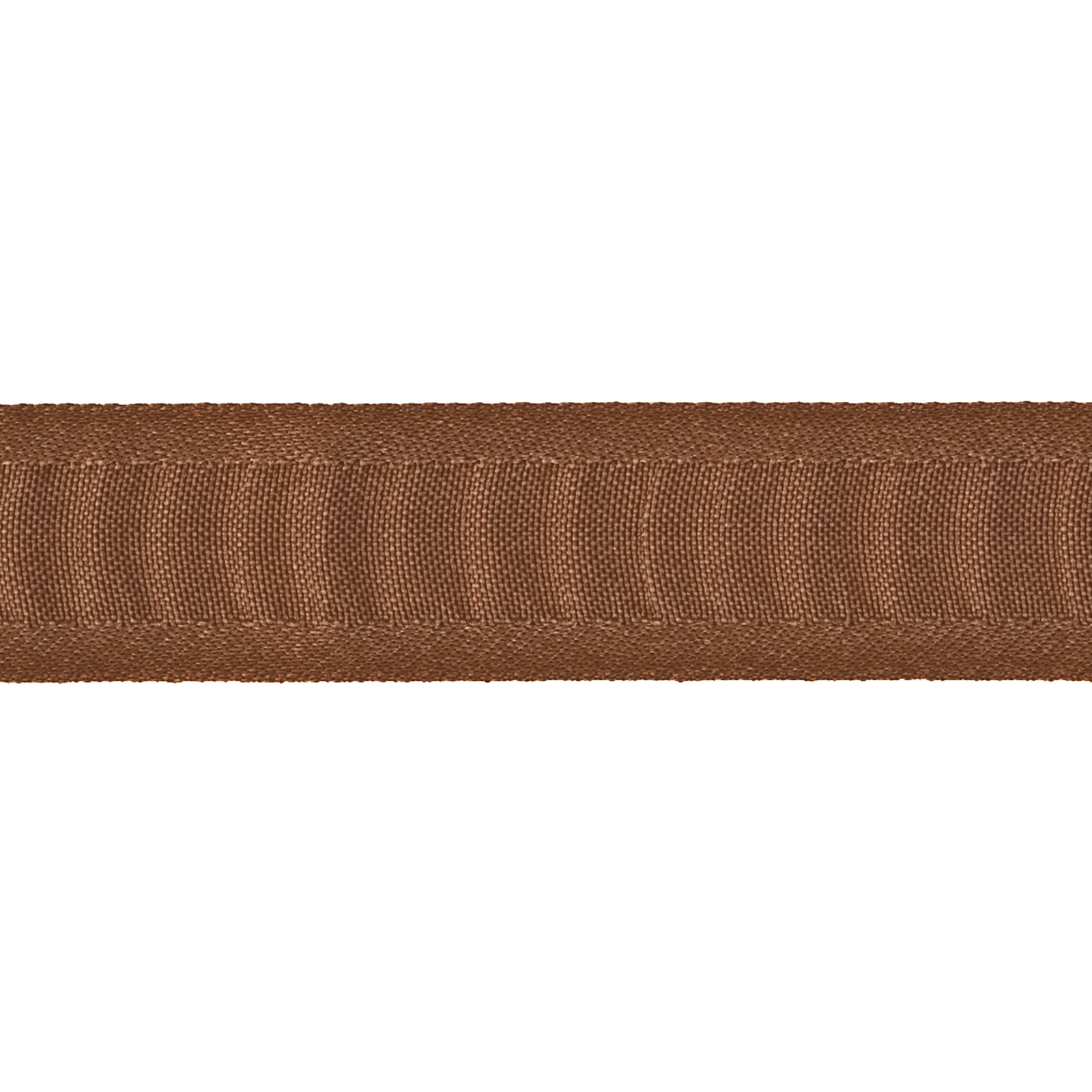 7/8'' Ruched Ruffle Satin Edge Ribbon Brown