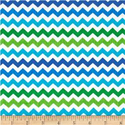 Timeless Treasures Ziggy Small Chevron Lagoon