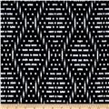 Ikat Diamond Techno Scuba Knit Print Black/White