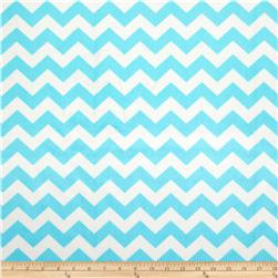 Riley Blake Dreamy Minky Medium Chevron Aqua Fabric