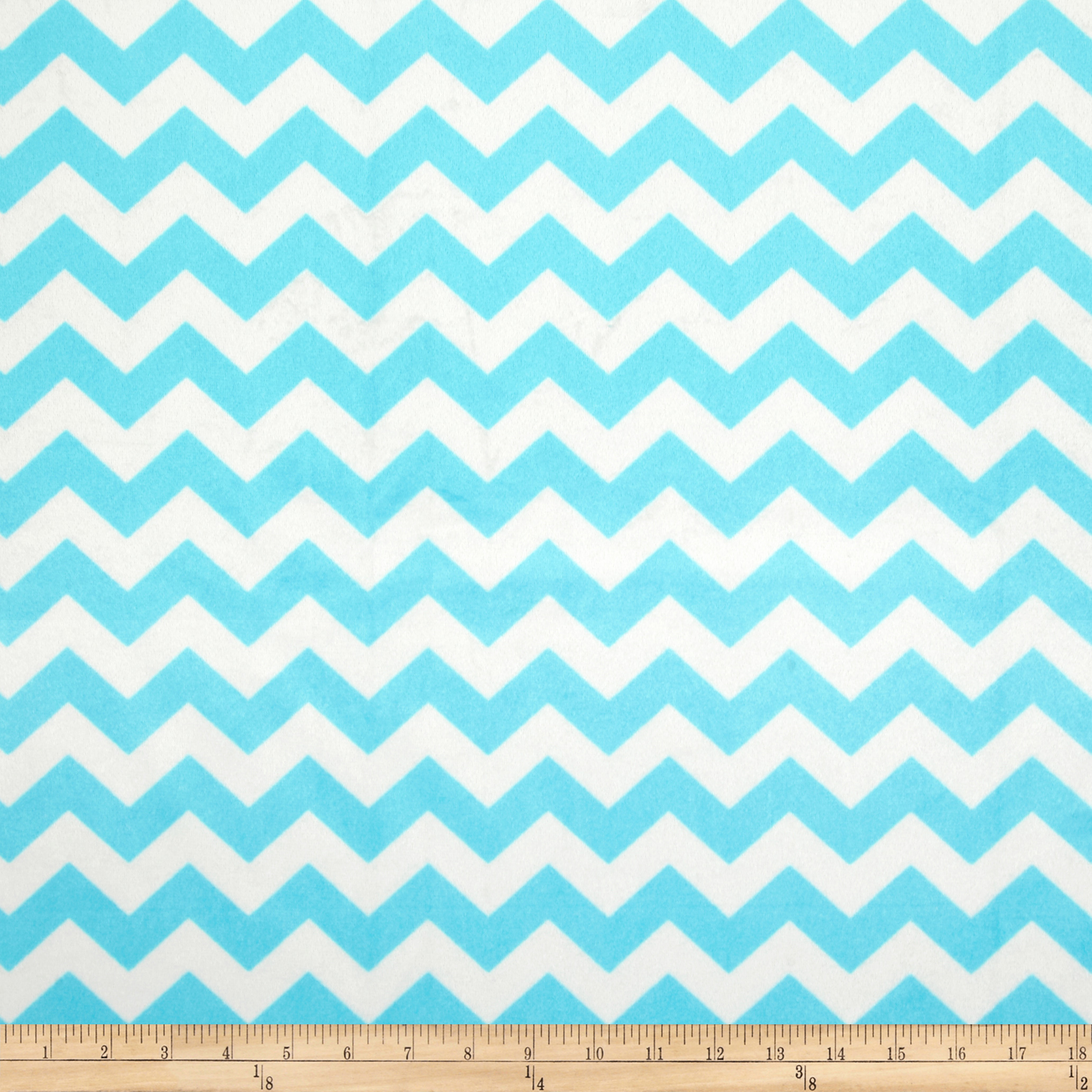 Riley Blake Dreamy Minky Medium Chevron Aqua