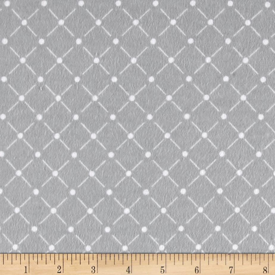 Flannel tuft grey discount designer fabric for Quilting material