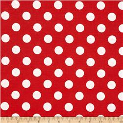 "Riley Blake 108"" Wide Medium Dot Red"