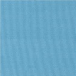 Poly Rib Knit Solid Ocean Blue