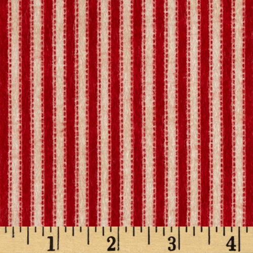Mountain Lodge Flannel Stripes Red/Beige