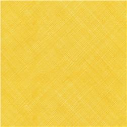 Timeless Treasures Bias Sketch Lemon Fabric