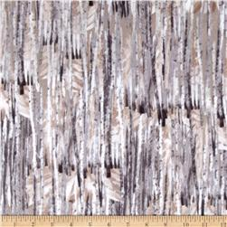 Kanvas Into the Woods Flannel Winter Birch Taupe
