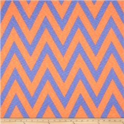 Rihan Jersey Knit Oversized Chevron Bright Orange/Sky Blue