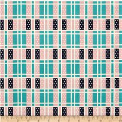 Cotton & Steel Lucky Strikes Domino Plaid Turquoise