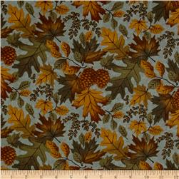 Moda Fall Impressions Flannel Large Leaf Juniper