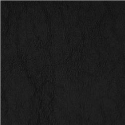 Coal Faux Leather Knit Black Fabric