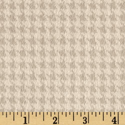 Kensington Flannel Houndstooth Tan Fabric By The Yard