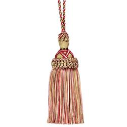 "Fabricut 10.75"" Dorchester Key Tassel Holiday"
