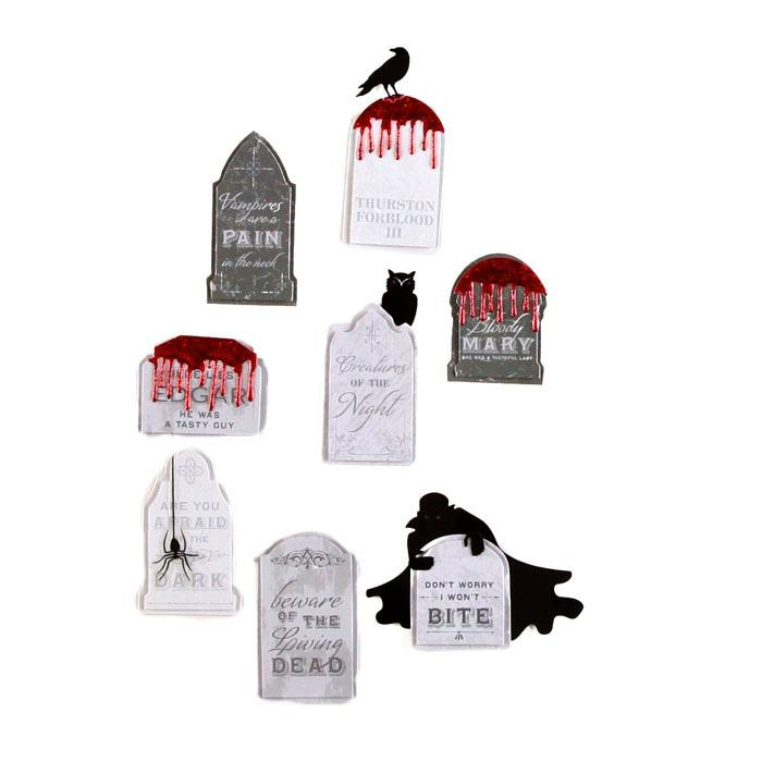 Martha Stewart Crafts Layered Stickers Tombstone