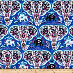 Bombay Elephants Heads Blue