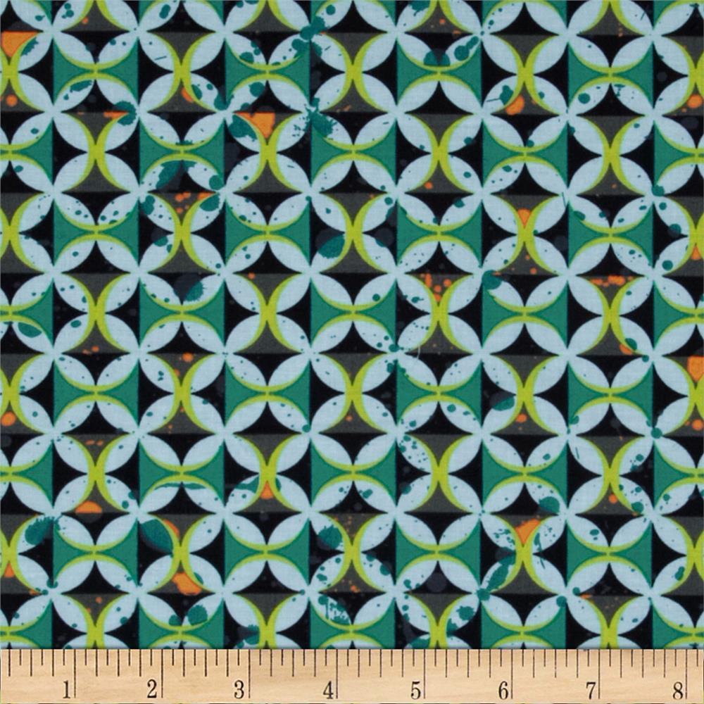 Moda Barcelona Spanish Tiles Onyx/Multi
