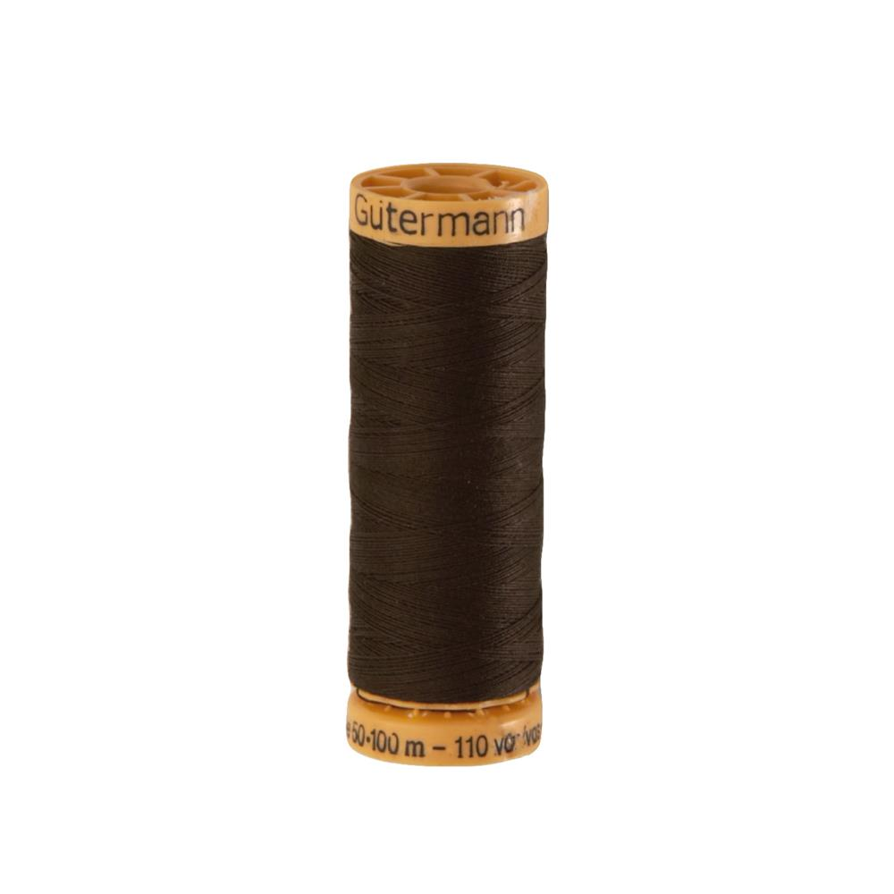 Gutermann Natural Cotton Thread 100m/109yds Seal Brown