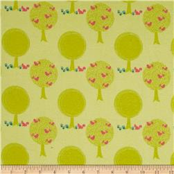 Riley Blake Acorn Valley Flannel Forest Citron