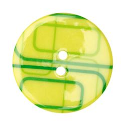 Fashion Button 1-3/8'' Confetti Rectangles Lime