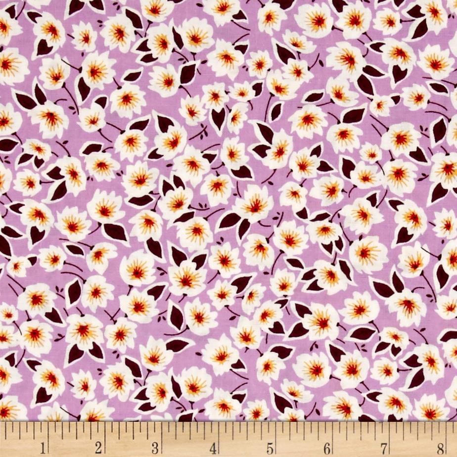 Penny Rose Hope Chest 2 Floral Purple Fabric By The Yard