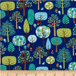 Jolly Farm Trees Blue