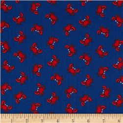 Timeless Treasures Mini Crabs Navy