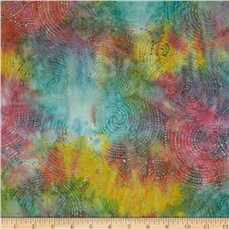 Indonesian Batik Swirl Bright Multi