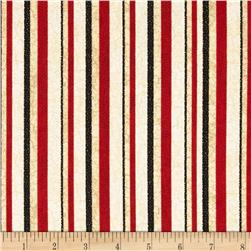 Cock-A-Doodle-Doo Stripes Red/Black/Cream/Tan