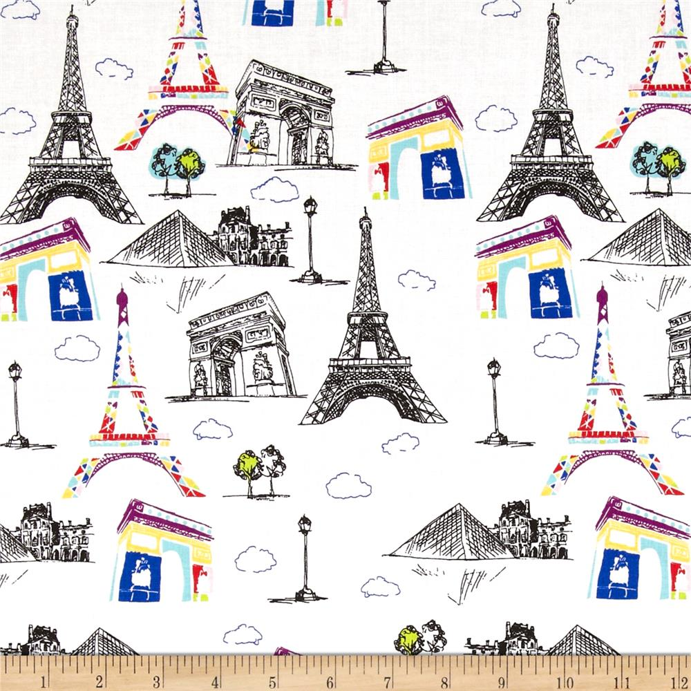 Riley Blake Pepe in Paris Main White